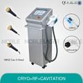 Cav + rf + cryo de múltiples funciones para rejuvenecimiento de la piel de la máquina