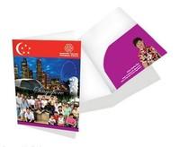 CMYK golden stamping customize wholesale presentation folders