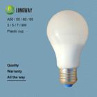 3W 5W 7W 9W A-type plastic casing cup E27 B22 base LED bulb