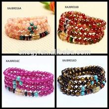 YIWU xinxiang Moq 12pcs in stock lucky natural crystal beads opal diy bracelet