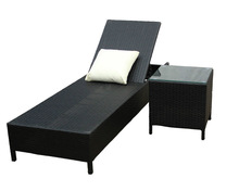 NEW Outdoor Wicker Daybed Sun Lounge Rattan Furniture + Side Table
