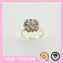 Flower shape rhinestone ring in wholesale