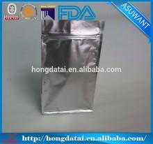 plain silver tea samples packets packaging
