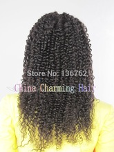 wholesale factory price hot sale natural color indian remy jerry curl full lace wig