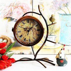 Best seller Antique Distressed desktop clock antique table clock digital table clock