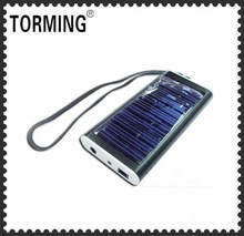 Slim and small Solar charger 2600mAh with keychain