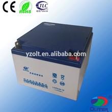 Jiangsu 12v 24ah high quality ups solar panel battery with rohs certificate