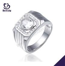 Innovate design silver rings jewelry black diamond finger ring