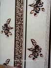 LYB16 polyester burnout printed bronzed big flower velvet sofa upholstery fabric