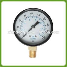 60mm bottom direction 2.5bar accuracy 1.6 lpg gas pressure gauge