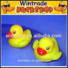6CM plastic animals floating bath toy yellow duck