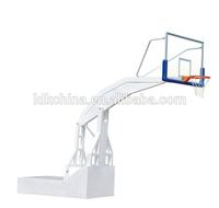 White Basketball post spalding basketball