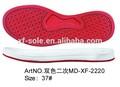las mujeres de color rojo plana de suela de zapato de material para la venta
