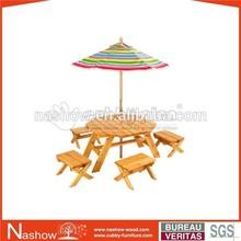 Cubby Plan garden furniture OF-013 kids wooden outdoor table set