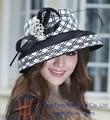 Negro blanco y sombreros de laiglesia para las mujeres en el partido dx-0008