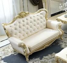 high quality gold leaf european sofa