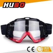 Transparent PC lens good quality helmet racing moto cross goggles with CE standard