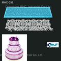 Fda flores e círculos bolo comestível molde decoração, silicone molde do laço, bolo de silicone do molde