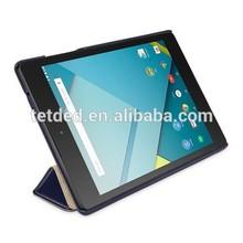 OEM Premium Leather Case for Google Nexus 9 Wifi LTE / HTC Nexus 9 OP82100 / OP82200 / OP82300 -- Quimper (LC: Navy Blue)