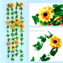 2 Pcs Beautiful Big Size Artificial Sunflower Garland Flower Vine Party Wedding Decor
