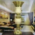 novo estilo de luxo dourado grande egípcio vaso
