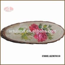 100% Handmade pink rose flower oil painting