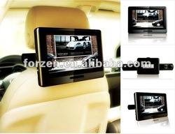 9 inch dual portable dvd player with IR/FM transmitter function