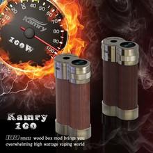 vaporizer rechargeable e cig 100W wood box mod digital electronic cigarette Mic USB port mechanical box mod fit 18650 battery