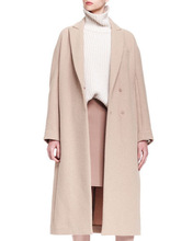 2014 Top Quality 100% cashmere camel italian winter coats for women