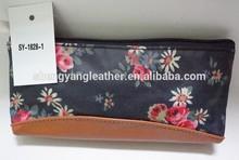 Guangzhou fashionable print cosmetic bags polyester handbags wholesale