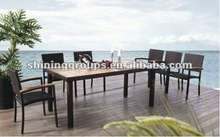 Outdoor and indoor wicker dining table and chair ZX-294