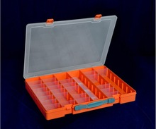 Plastic storage case with handle 40 compartments