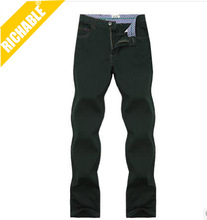 2014 multi-pocket 100%cotton cargo pants casual khaki work trousers