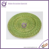 18271 beaded charger plate silver plastic disposable wholesale