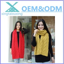 fashion custom plain kintted scarf/fashion girl winter scarf/thick knitted scarf