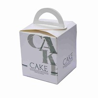 Beautiful mini packaging die cut cupcake cake box