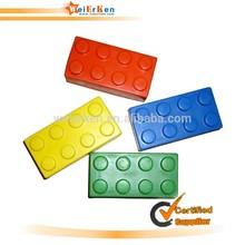 building blocks shape squeeze pu stress ball toy