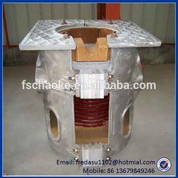 Big capacity 1.5 ton cast aluminum melting furnace with tilting device