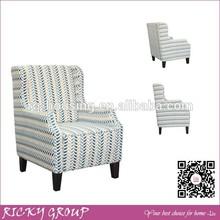 Noble High Back King Retro Sofa Furniture,Fabric Solid Wood Single Sofa Chair,Retro Sofa Furniture RQ6048