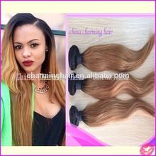 #1b/ 27 dark root blonde hair bundles virgin blonde brazilian straight human hair weaves two tone ombre hair extensions