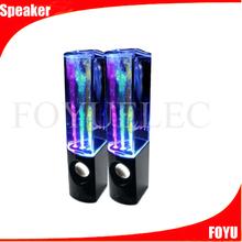 Good sales black led dancing water speakers beautiful led speaker bluetooth dancing water speaker