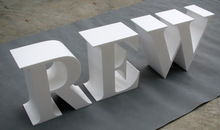 customized front lit 3d led letter large plastic letters