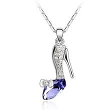 Crystal shoe fashion Swarovski element pendant necklace