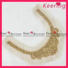 Fashion OEM beaded yellow collar neck design ladies WNL-1138