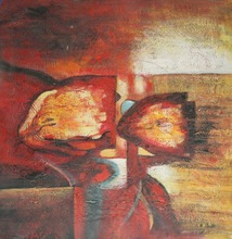 abstract oil painting on canvas african arts
