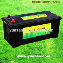 JIS Standard Maintenance Free Lead Acid Automotive Battery 12V 180AH MF Car Battery --195G51(N180MF)