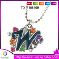 Fashion Kids Mood Necklace Best Friend Initials W Pendant Necklace