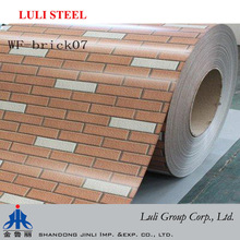 prepainted galvanized steel coil/brick color coated galvanized coil for curtain wall decoration