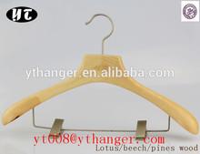 pants hanger durable clips solid wooden hangers hang