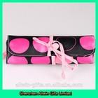 Brush storage bag custom roll up cosmetic brush bag